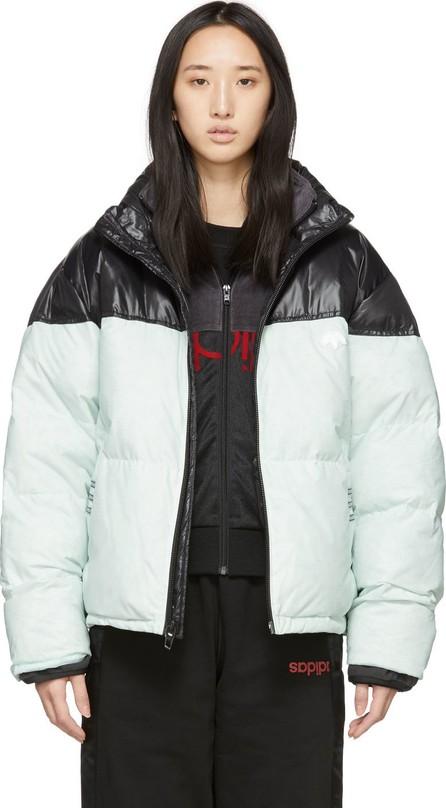 Adidas Originals by Alexander Wang Black & Green Down Disjoin Puffer Jacket