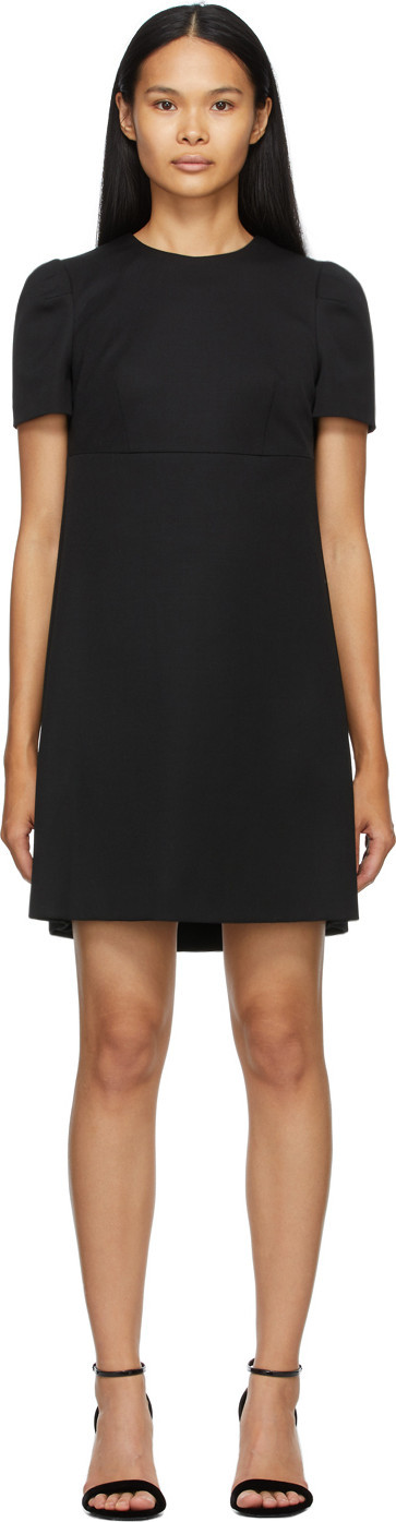 Alexander McQueen Black Cape Back Dress