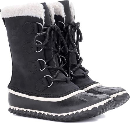 Sorel Caribou leather and suede snow boots