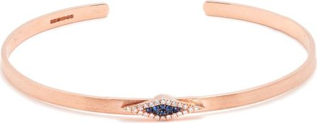 Diane Kordas Diamond, sapphire & rose-gold Evil Eye cuff