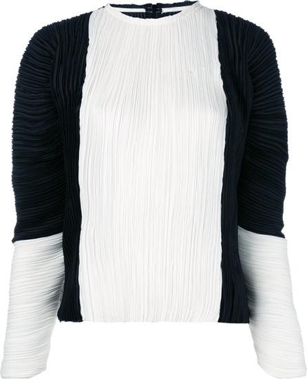 Haider Ackermann puffer sleeves pleated blouse