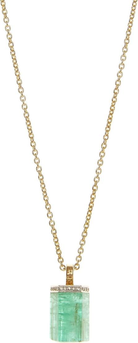 Jade Jagger Emerald, diamond & 18kt gold necklace