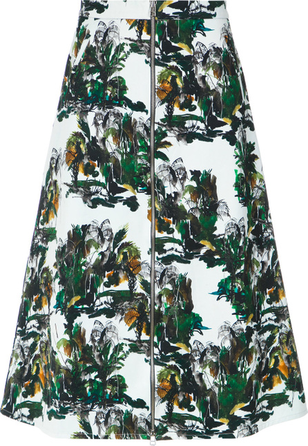 Andrea Marques Printed midi skirt
