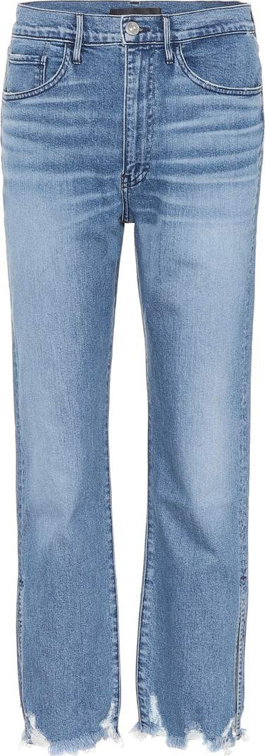 3X1 W4 Relaxed Split cropped jeans