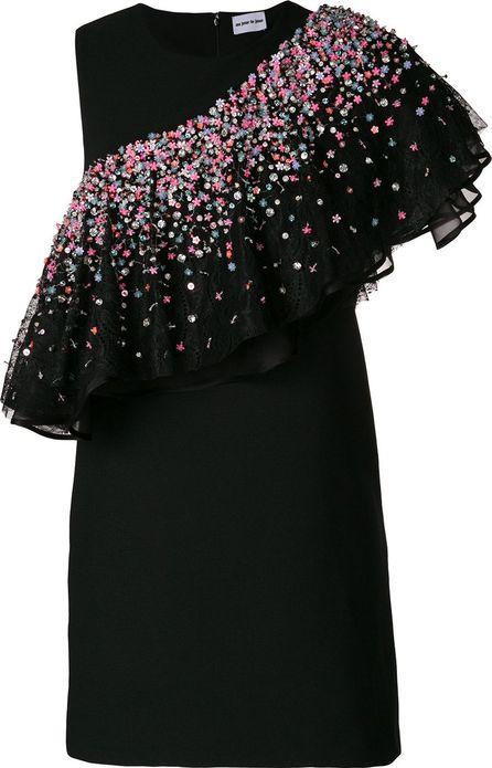 Au Jour Le Jour embellished asymmetrical flounce dress