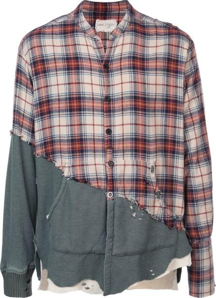 Greg Lauren Patchwork buttoned shirt