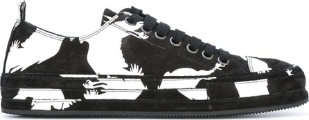 Ann Demeulemeester bird print sneakers