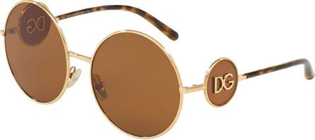 Dolce & Gabbana Round Metal DG Sunglasses