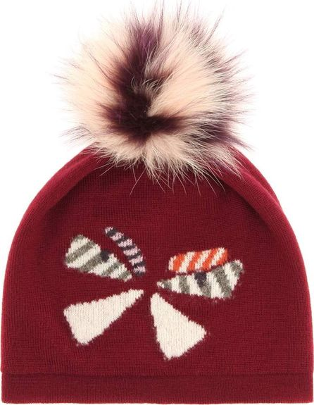 Fendi Fur-trimmed wool hat