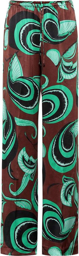 Dries Van Noten Printed silk pants