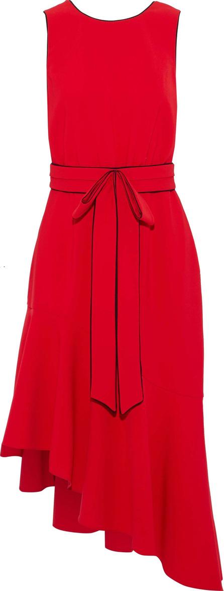 Sachin & Babi Merle asymmetric bow-embellished crepe dress