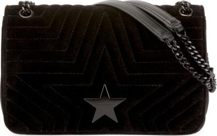 Stella McCartney Stella Star Small Velvet Shoulder Bag