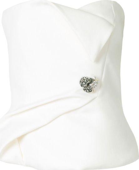 Lanvin embellished bustier top