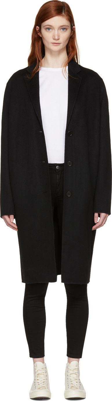 Acne Studios Black Avalon Doublé Coat