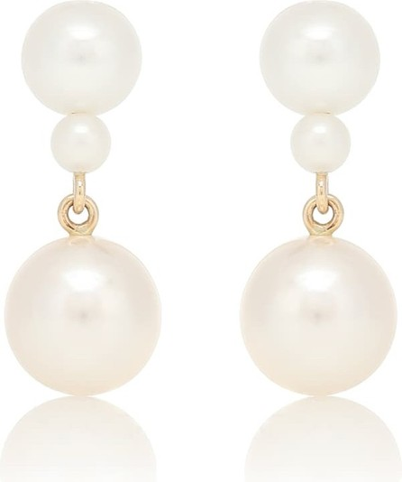 Sophie Bille Brahe Giudecca 14kt gold earrings with pearls