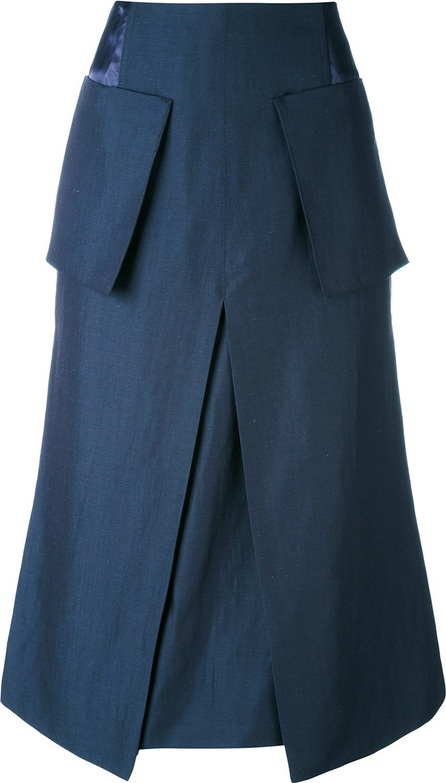 Aalto patch pockets A-line skirt