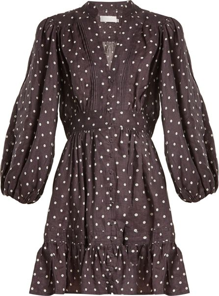Zimmermann Prima polka-dot linen dress