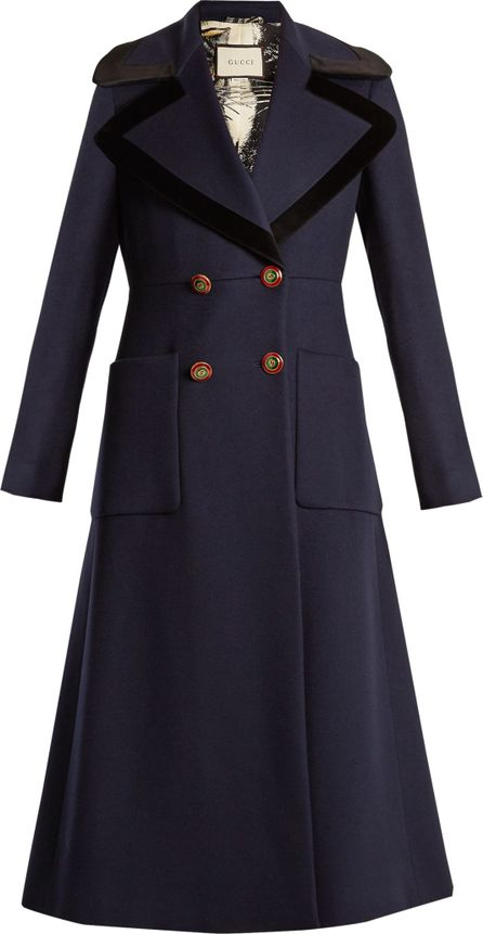 Gucci Double-breasted peak-lapel wool coat