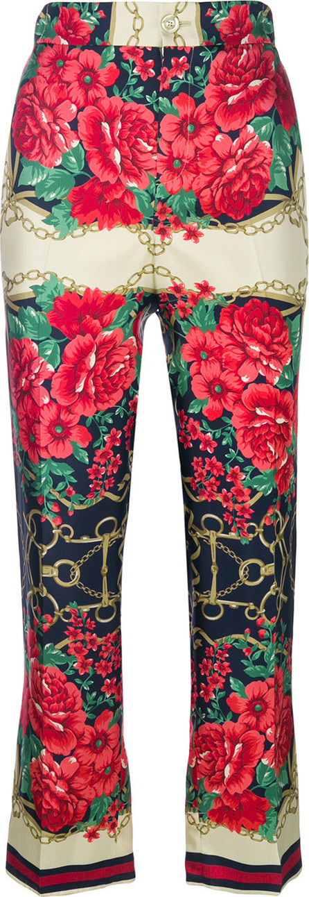 Gucci Floral chain print trousers