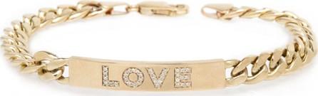 Zoe Chicco 14k Large Curb-Chain Diamond LOVE Bracelet