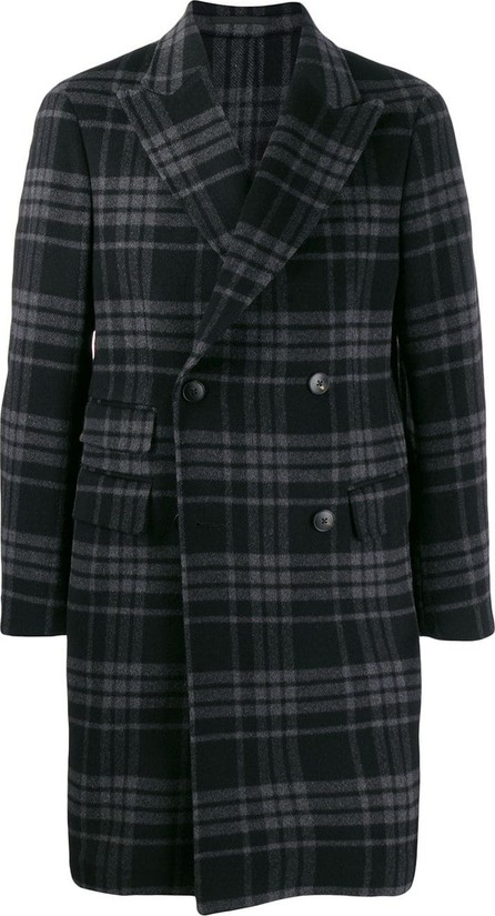 Z Zegna Plaid double-breasted coat