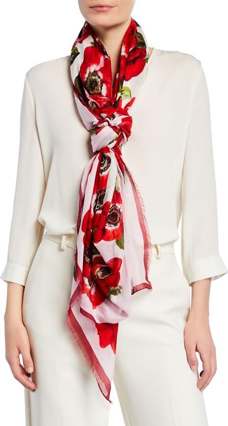 Dolce & Gabbana Floral Fringe Scarf