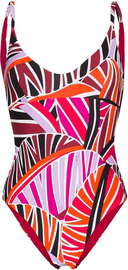 Emilio Pucci Sal-print scoop-neck swimsuit