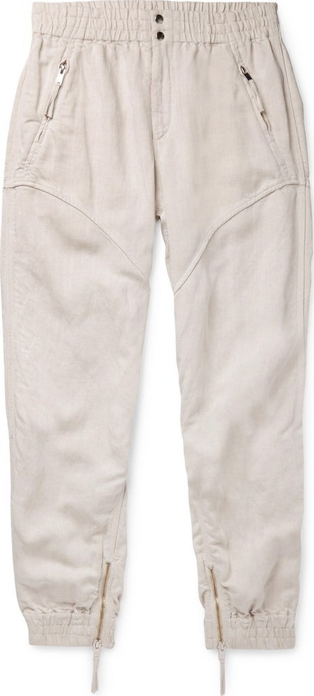Isabel Marant Oarris Tapered Tencel and Linen-Blend Trousers