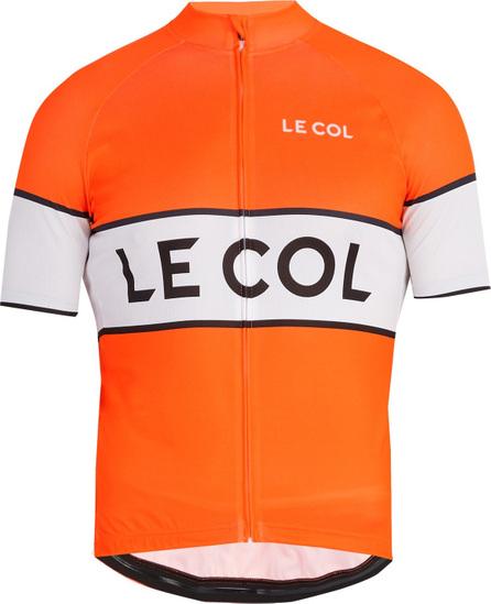 Le Col Arancia zip-through cycling top