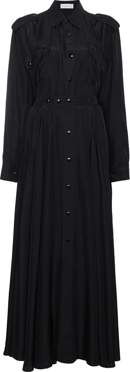 Faith Connexion Button down mini dress with trench coat