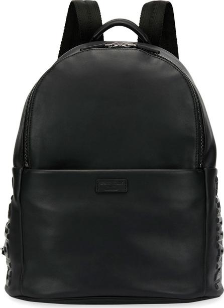 Giorgio Armani Armani Leather Backpack, Black