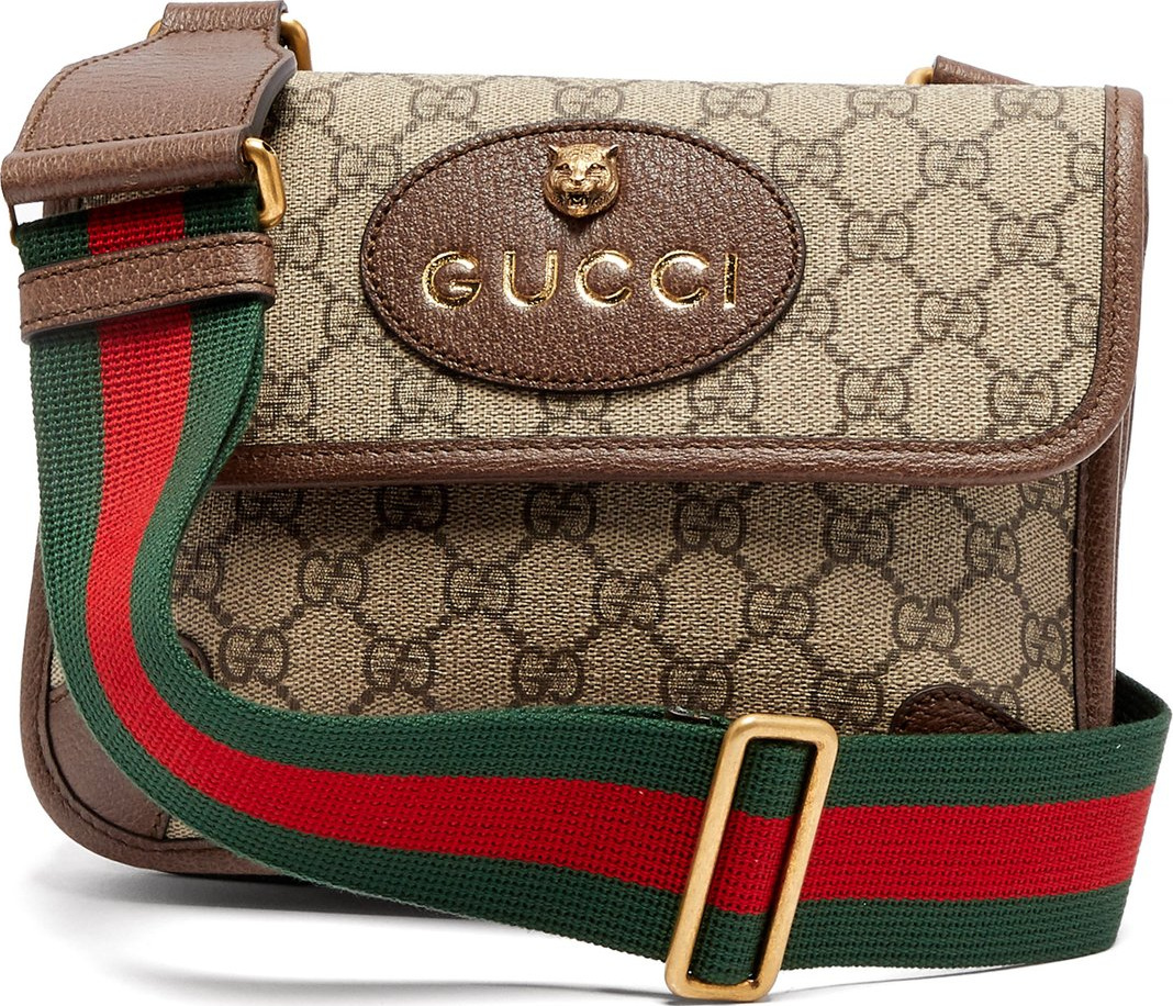 Gucci GG supreme logo cross-body bag - Mkt 00aa1eb833f4d