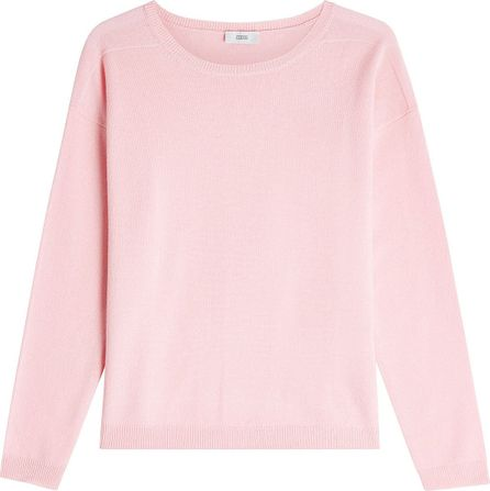 Closed Wool Pullover with Cashmere