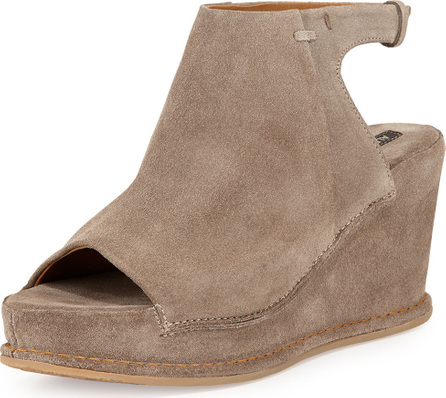 Alberto Fermani Aleria Allover Suede Wedge, Sand