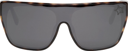 Stella McCartney Tortoiseshell Square Shield Sunglasses