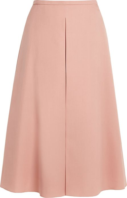 ROCHAS Inverted-pleat A-line wool skirt