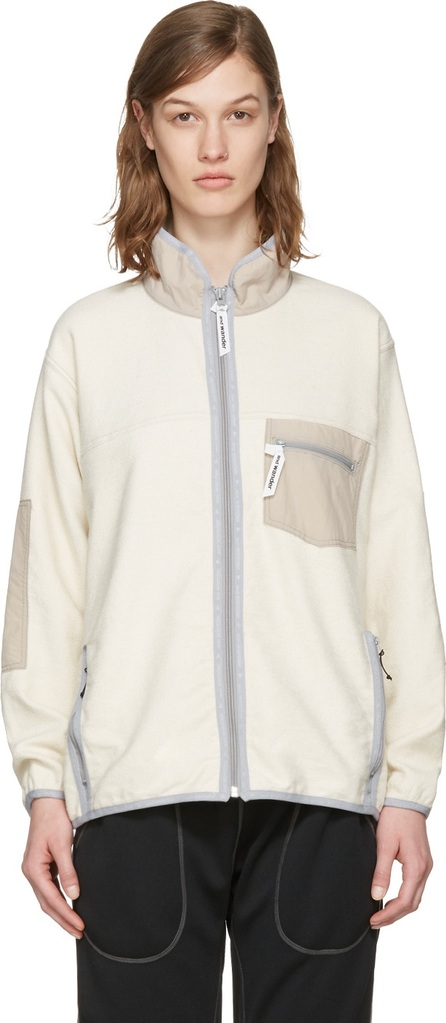 and Wander Off-White Pile Denim Jacket