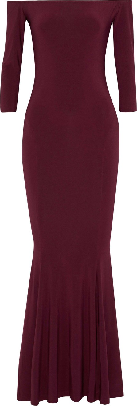 Norma Kamali Off-the-shoulder fluted stretch-jersey gown