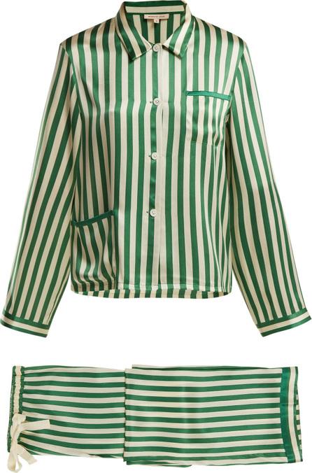 Morgan Lane Ruthie striped silk pyjama set