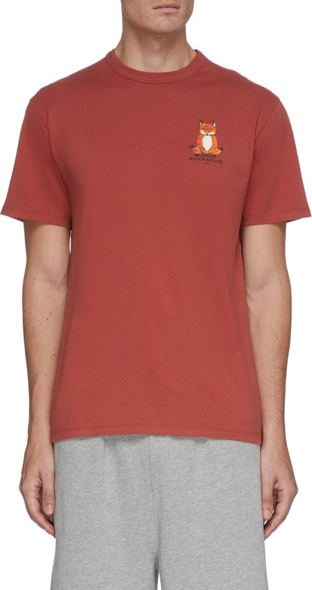 Maison Kitsune Lotus fox print T-shirt