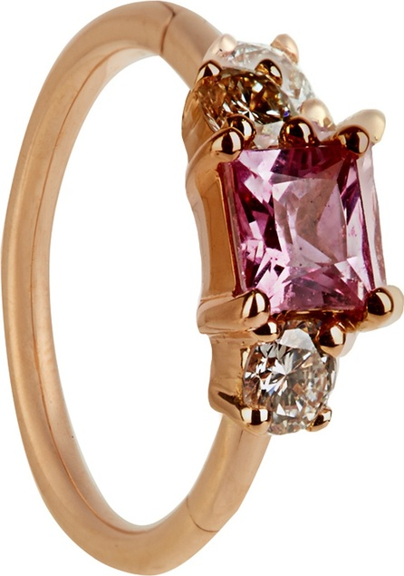 Maria Tash Diamond, sapphire & rose-gold earring