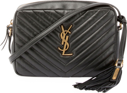 Saint Laurent Loulou Monogram Medium Chevron Quilted Leather Camera Shoulder Bag