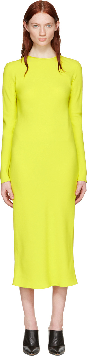 Haider Ackermann Yellow Bias Dress