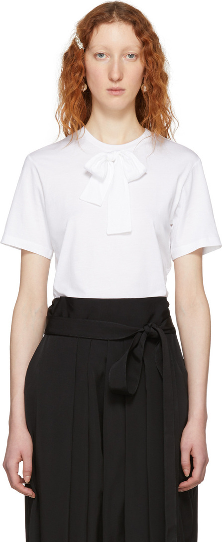 Simone Rocha White One Bow Tie T-Shirt