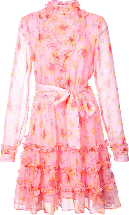 DODO BAR OR Floral print ruffle trim mini dress