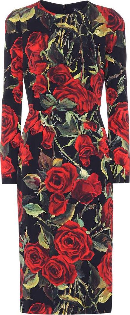 Dolce & Gabbana Floral print stretch-silk dress