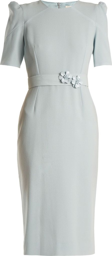 Goat Fawn embellished-waist wool-crepe dress