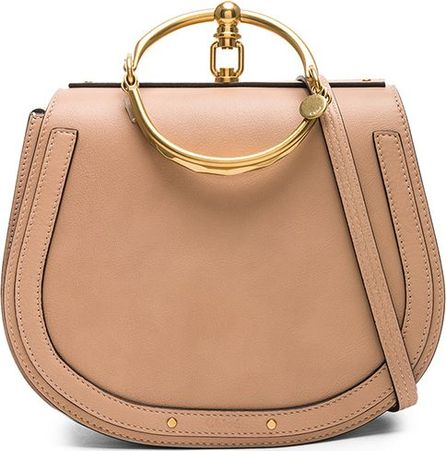 Chloe Medium Nile Calfskin & Suede Bracelet Bag