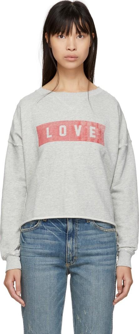 AMO Grey 'Love' Cut-Off Sweatshirt