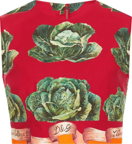 Dolce & Gabbana Sleeveless Cavoli Crop Top